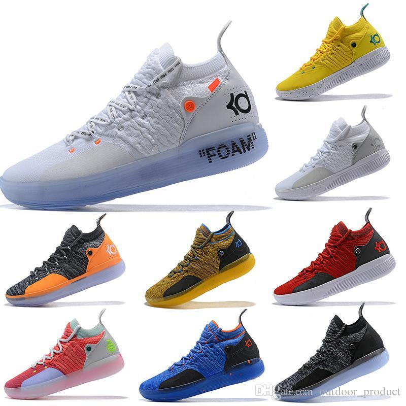 2019 جديد KD 11 XI Foam Zoom EP أبيض برتقالي فوم زهري بجنون العظمة أوريو أيس أحذية كرة السلة للرجال حذاء رياضي مقاس 7-12