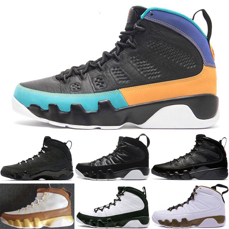 o 9 9s basketbol ayakkabıları Antrasit siyah beyaz OG uzay sıkışması Spirit Top yetiştirilen yapmak Rüya spor ayakkabı boyutu 7-13 mens