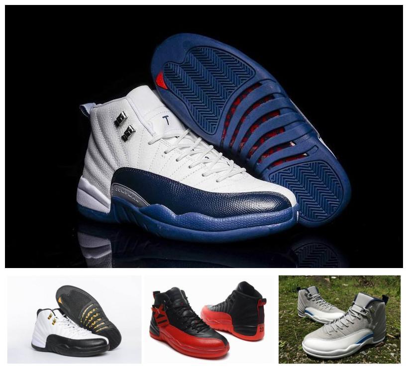 12s pallacanestro Scarpe Uomo Bred Palestra Rosso Blu Nero Bianco Beige Verde calza 12 Sport Sneakers con la scatola