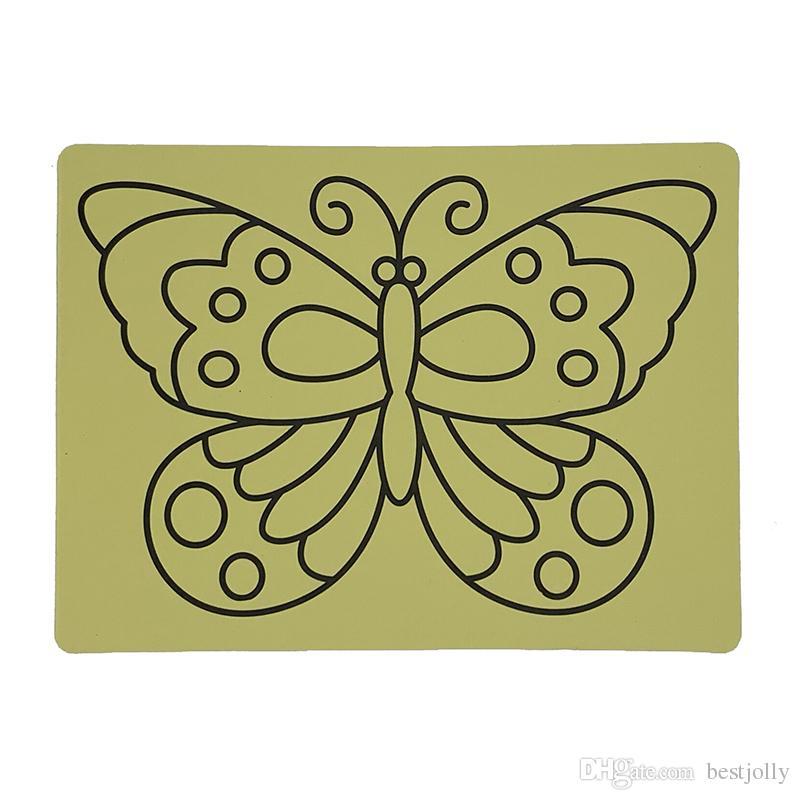 الحرة الشحن 500pcs / lot- بطاقات لاصقة للحصول على لون الرمل art_20x28cm سحر الرمال الفن ملصق بطاقات الساخن بيع
