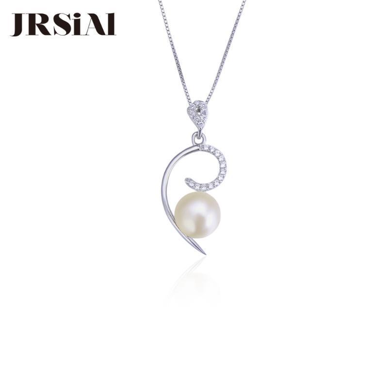 JRSIAL 925 prata esterlina zircão Pearl Pendant Criativo Personalidade Moda Feminina Simples brincos pingente de JRP0081
