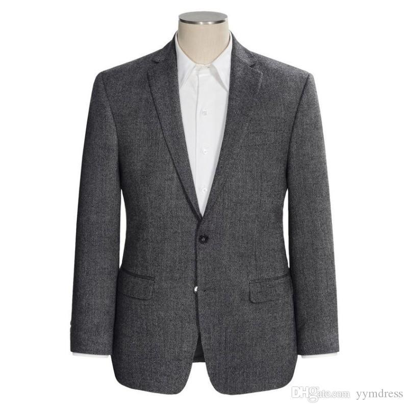 New Dark Grey Wedding Tuxedos 2019 Slim Fit Best Man Suit For Wedding Men's Suits Business Wear Suit Separates Jacket Custom Made