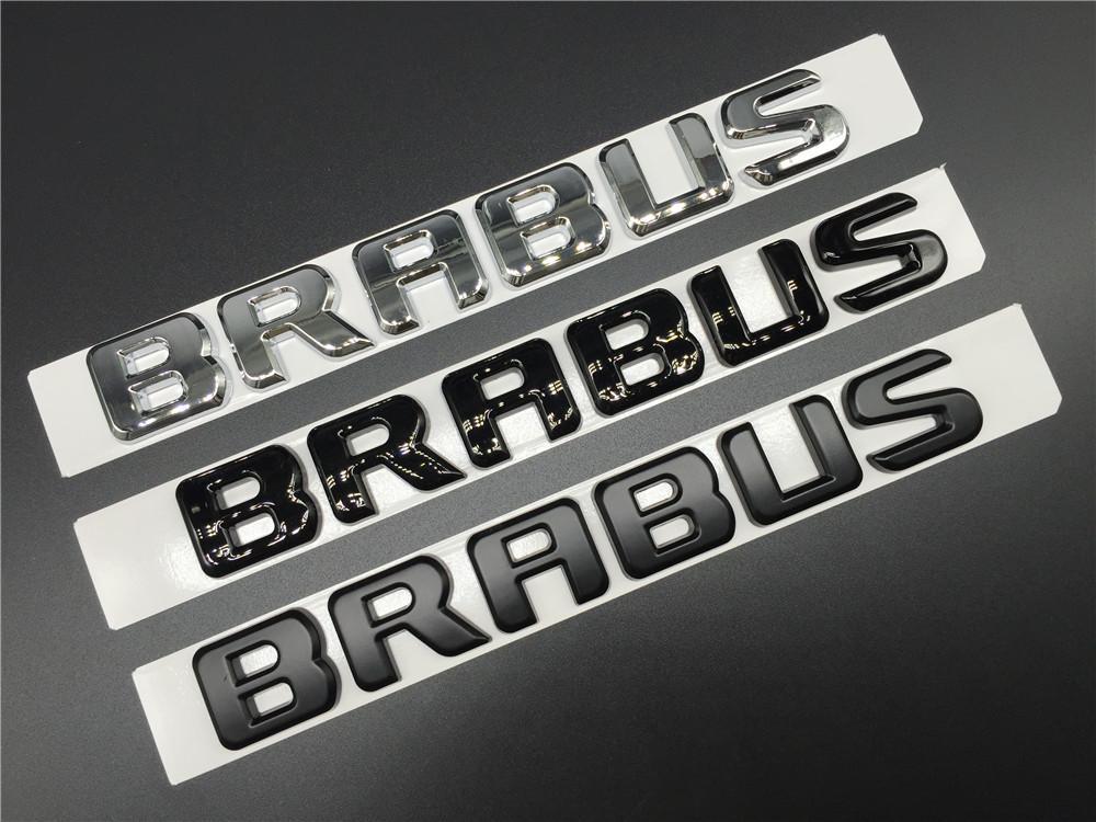 Metal BRABUS Grille Emblems Car Badge Sticker
