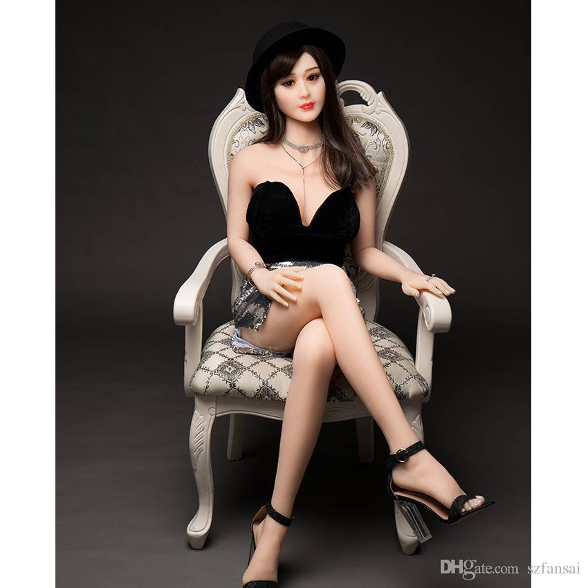 Silicone completo de Metal esqueleto boneca sexual china super star lindo rosto amor boneca verdadeira vagina peitos brinquedos sexuais para homens