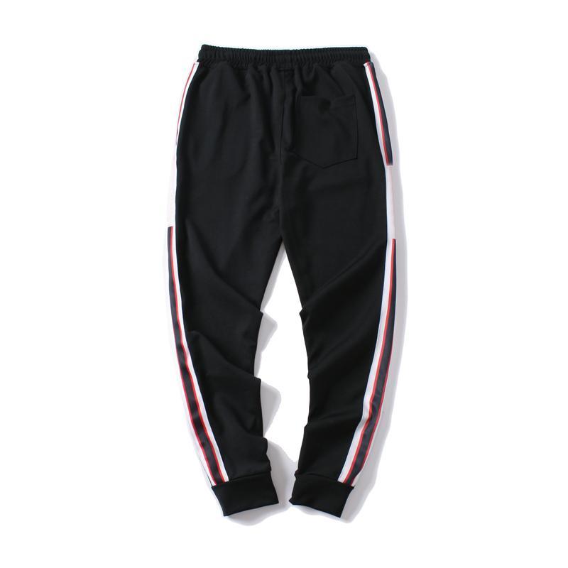 Hommes De Luxe Jogger Pantalon Nouvelle Marque Cordon Sport Pantalon Haute Mode Noir Couleurs Côté Bande Lettres Designer Joggeurs
