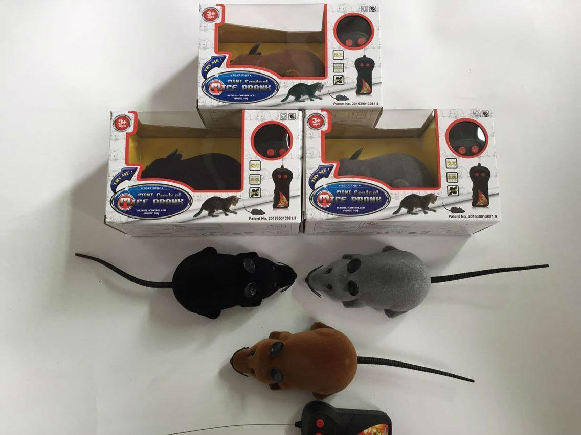 Novelty Funny RC Wireless Remote Control Rat Mouse Toy 3 Colors 30pcs/lot For Cat Dog Pet