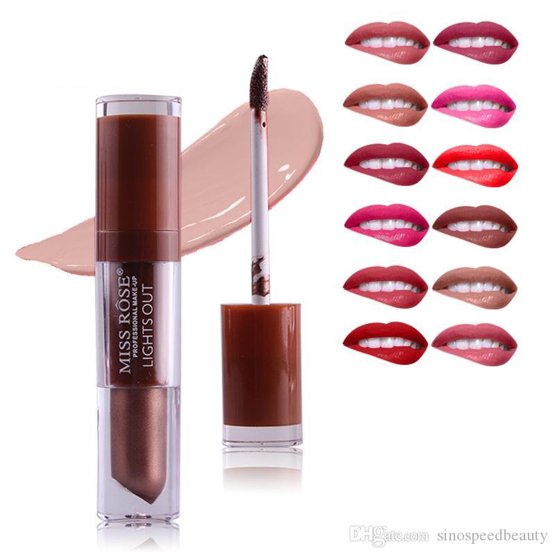 HOT! 24 Color Matte Liquid Lip Glaze Fashion Retro MISS ROSE Matte Lipstick Waterproof Long Lasting Makeup Tool Factory Dropshiping L1803