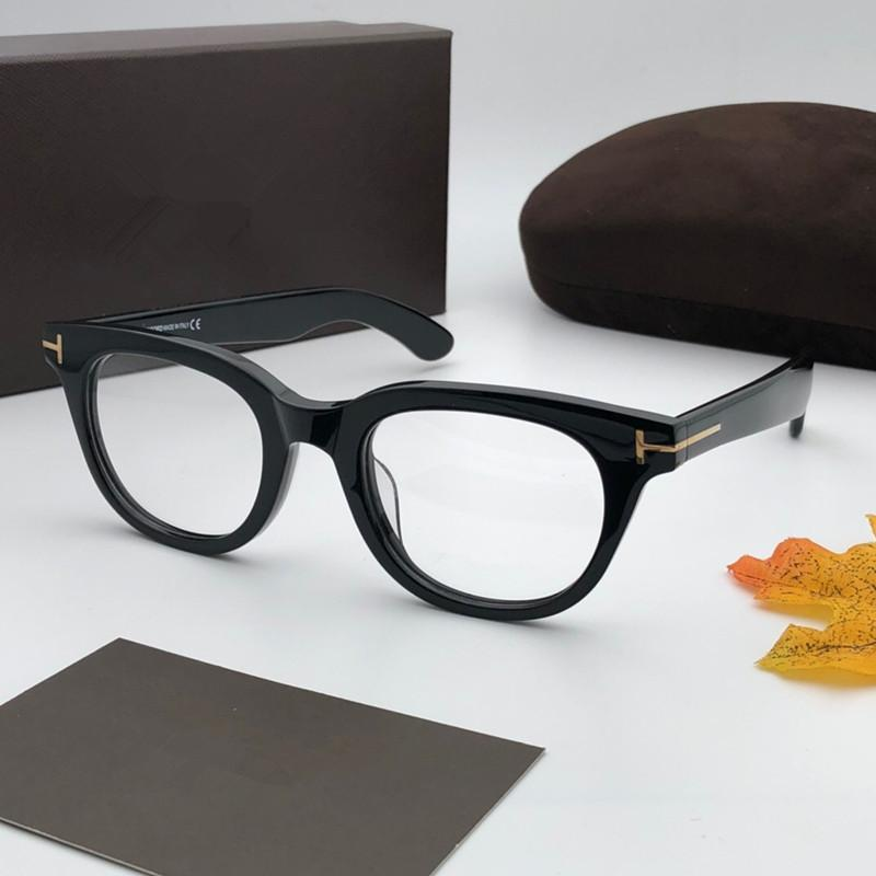 5558 Luxo Homens Mulheres Moda Designer Quadro Popular Glasses Optical Lens Praça Inteiro Preto Tortoise Brown Top Quality