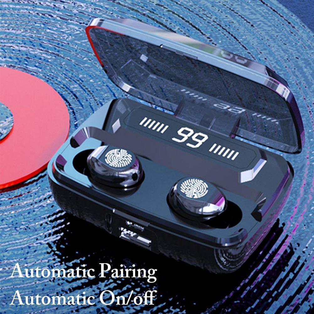 F9 Auriculares inalámbricos TWS Bluetooth5.0 auricular de alta fidelidad auriculares a prueba de agua IPX7 táctil Auricular de control para los deportes / de mesa