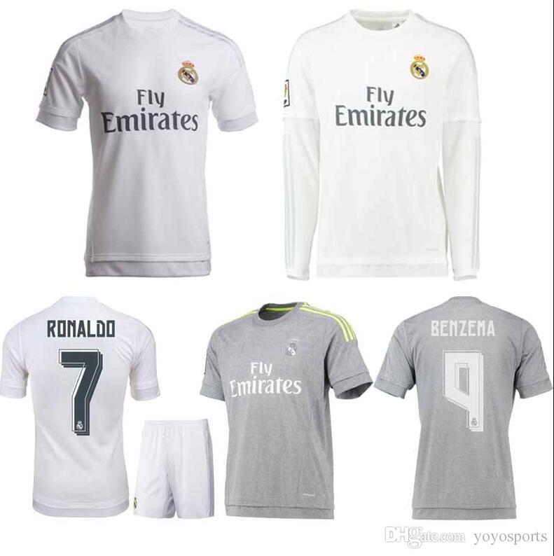 best sneakers 13c53 28ac7 2019 2015/16 Real Madrid Home Away Soccer Jerseys Ronaldo Isco Modric  Futbol Camisa Football Camiseta Shirt Kit Maillot From Yoyosports, &Price;  | ...