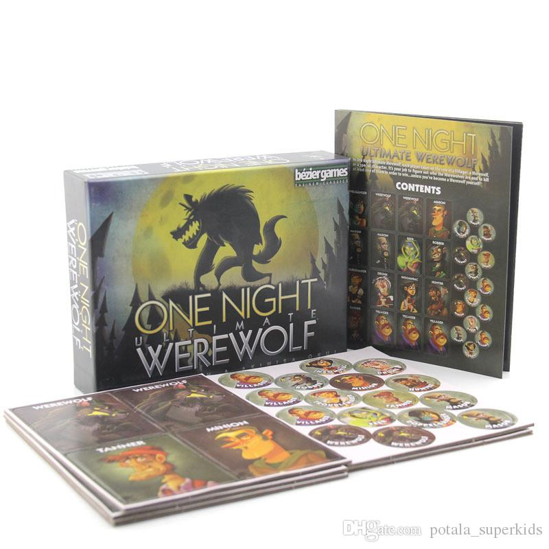 One Night Ultimate Werewolf alien board werewolves for home party لعبة إصدار اللغة الإنجليزية الكامل بطاقات daybreak card ألعاب للأطفال والكبار