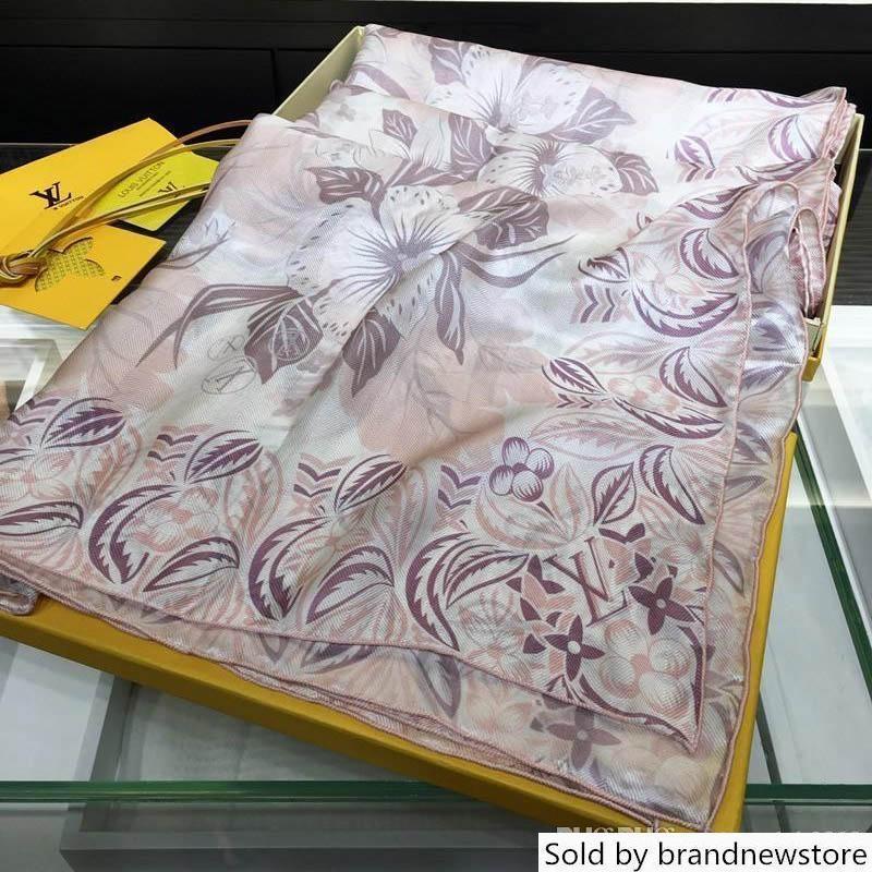 Brand luxury silk scarf Designer women brand colorful shawl scarf long ring Christmas gift wholesale 100*200CM 15