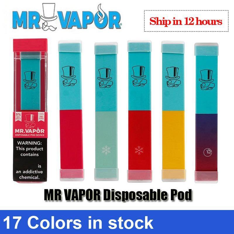 vape descartável MR VAPOR descartável Dispositivo Pod Starter Kit 280mAh Battery 1,2 ml pré-cheia cartucho Pods Vape Esvaziar Pen VS Puff mais fluxo