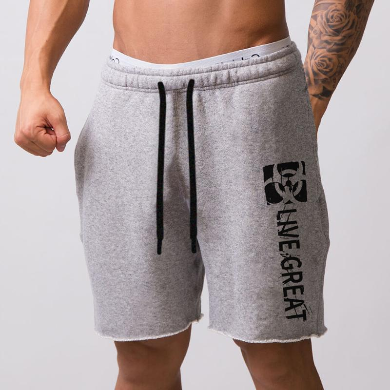 New Fashion Casual Mens Shorts With Pockets Bodybuilding Clothing Quick Dry Fitness Walking Workout Jogger Sweat Shorts T200409