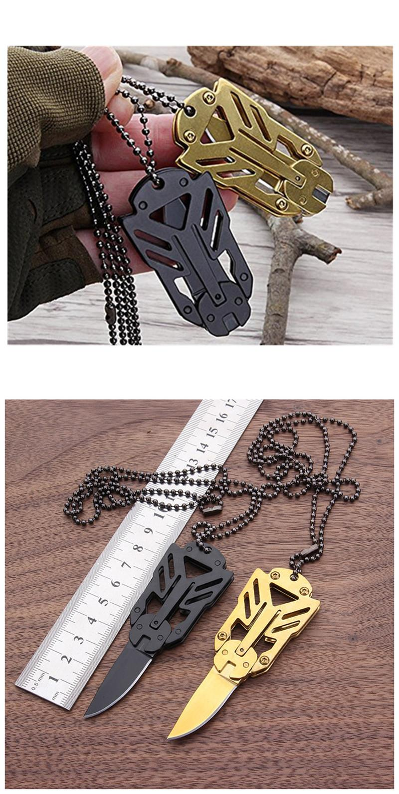 Multiple Tools EDC Outdoor Survival Tools Survive Self-Defense Necklace Camping Stool Folding Tactical Knives for Hiking Camping (2)