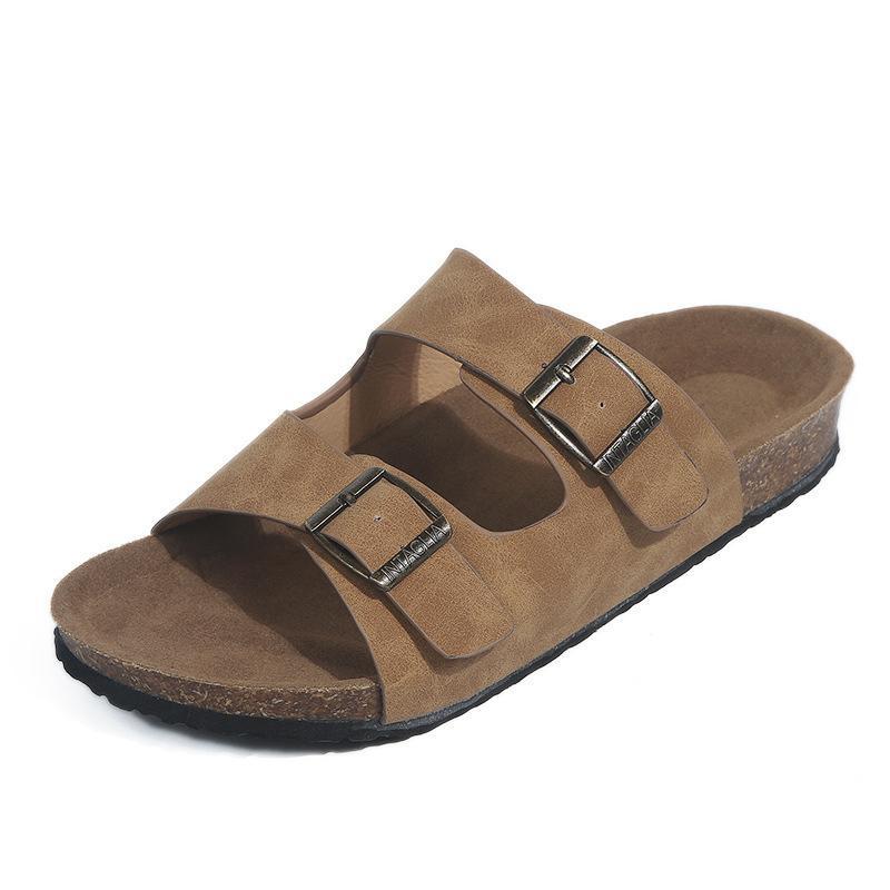 Donna Sandali estate PU sandali delle signore fibbia Open Toe Scarpe cuneo della piattaforma diapositive Beach