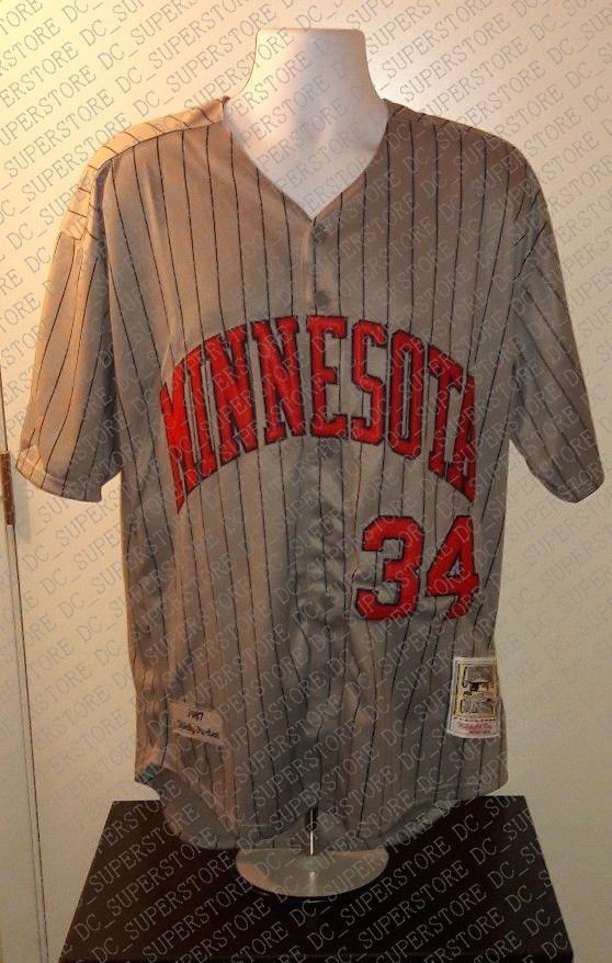 100% вышивка Kirby Puckett 1987 Джерси сшитые настроить любое количество имя мужчины XS - 5XL NCAA Джерси
