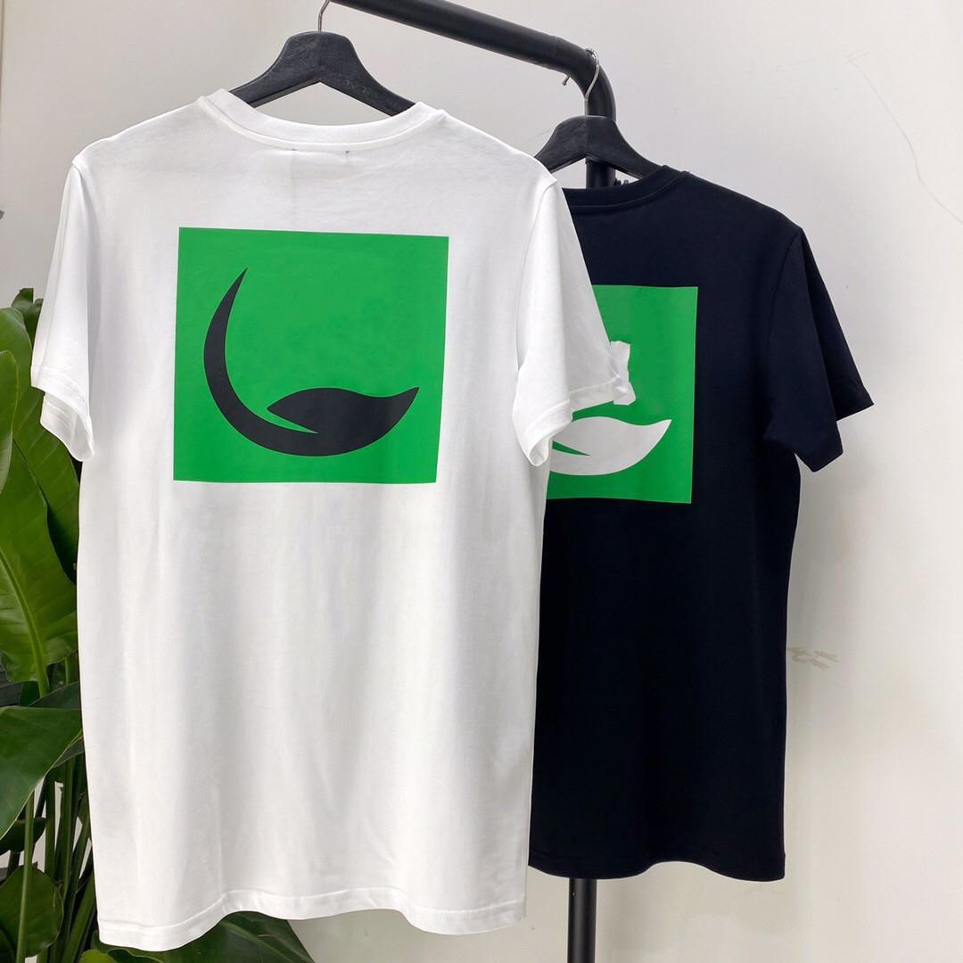 20SS respetuosos del medio ambiente de impresión de manga corta camiseta de algodón ocasional de la manera Pantalones cortos para hombre y mujeres de dos camisetas S-L HFXHTX051