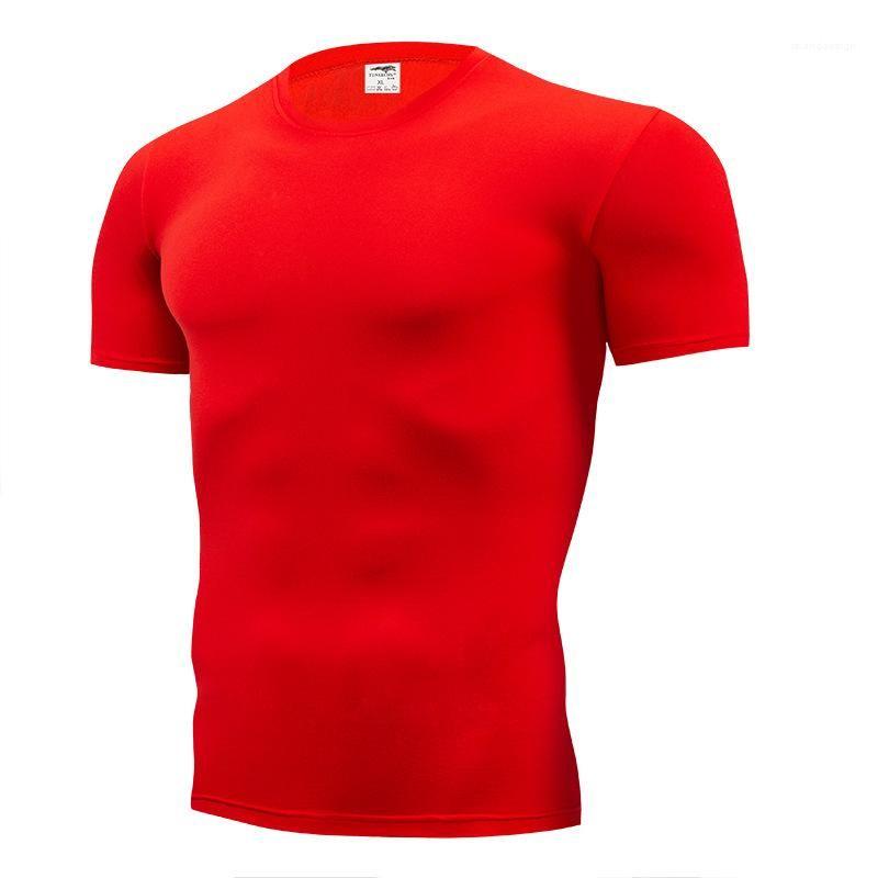 Collo casuale Maniche corte Slim Tshirt Mens camicia di modo di fondo supera Maschio Abbigliamento Solid Crew colori