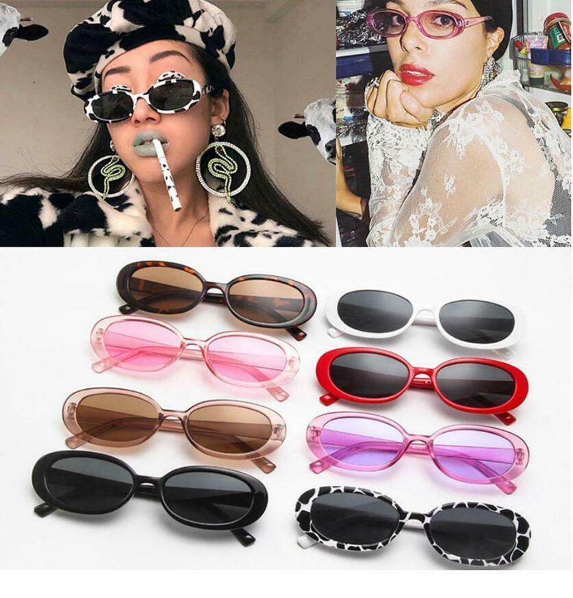 Мода Уникальные солнцезащитные очки спорта Корова овальный Малый каркас очки вождения солнцезащитные очки