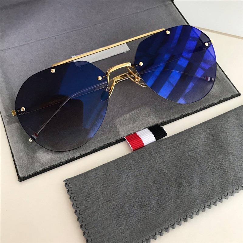 2020New las mujeres las gafas de sol de diseño de lujo Círculo de la vendimia del tirón de imagen Hasta gafas de sol de las mujeres de los hombres del estilo del metal del punk Negro Gafas de sol Hombre 929