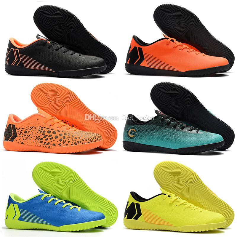 Ankle Low Mens Football Boots VAPORX 12CLUB IC TF Soccer Shoes Cristiano Ronaldo CR7 Mercurial SuperflyX VI Neymar Indoor Soccer Cleats