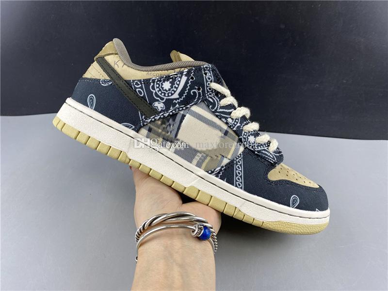 2020 Nova Travis Scotts x SB Dunk Low Jackboys CT5053-001 das mulheres dos homens Running Shoes Top skate Qualidade Casual Sneakers US 5,5-12