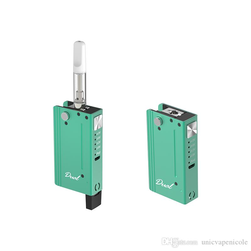 Vape largo 1 650mAh resistencia electrónica VV Aceite en cartucho Vaporizador Diseño Pods 2 cigarrillos Pen VMHNK
