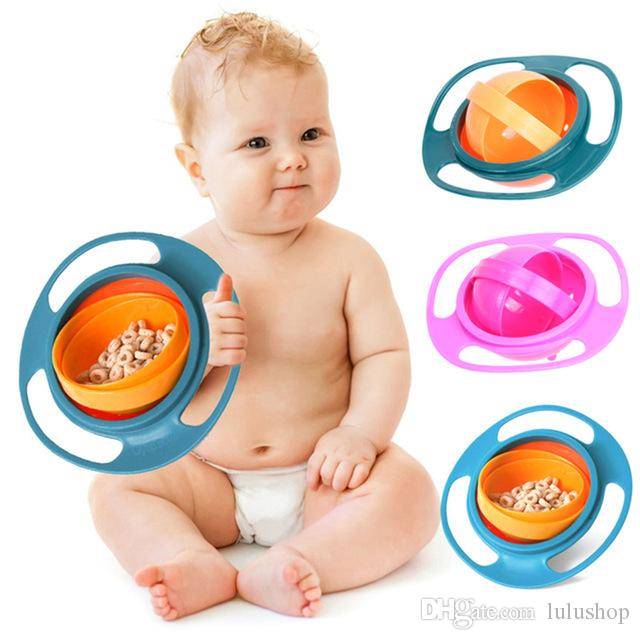 Tableware Dishes Bowl Children Feeding Infant Food Container Plates Cup 360 Rotate Spill Proof Learning Dinnerware Bowls