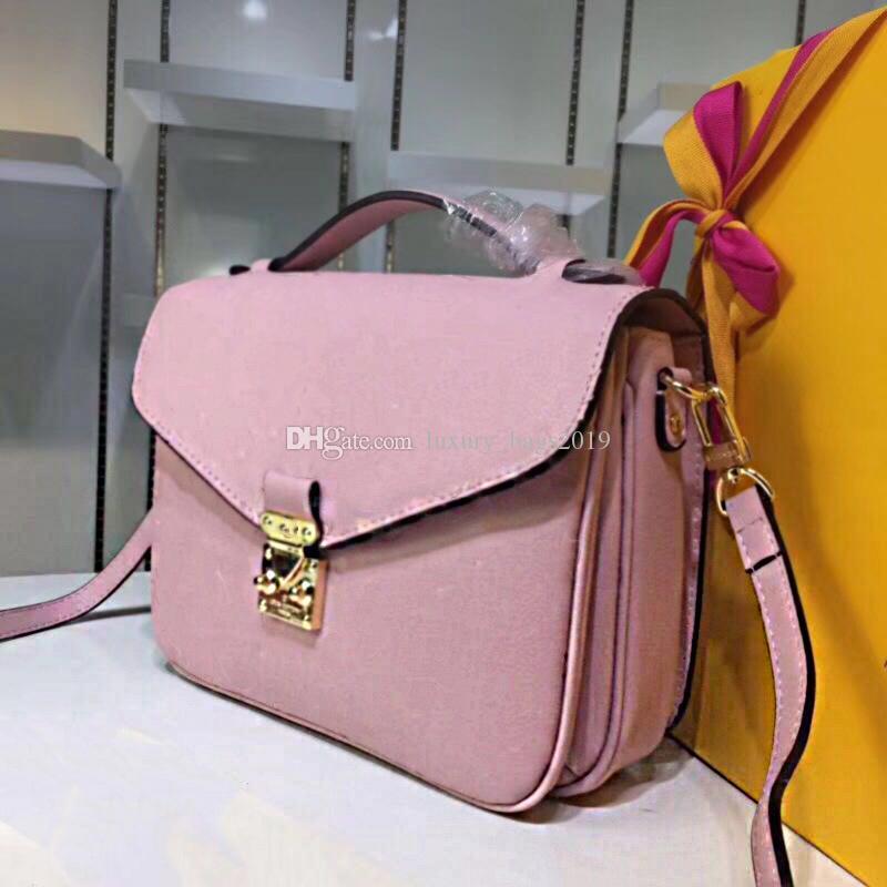 flor impressão clássico Messenger Bag real de couro bolsa de Pochette Metis Totes Bolsas Bolsa de ombro único Bags Bandoleira M40780