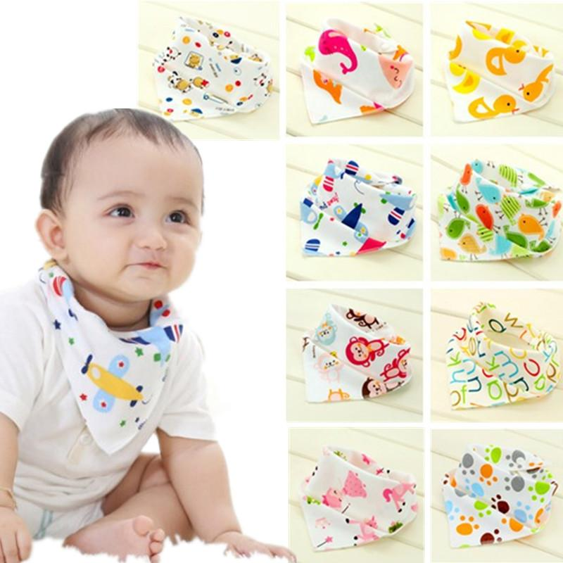 Wasserdicht Babylätzchen Dreieck Cotton Cartoon Kinderlätzchen Dribble Lätzchen Newborn saugfähiges Tuch