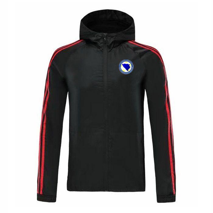 Bosnia and Herzegovina soccer Hooded jacket zipper Windbreaker, Bosnia and Herzegovina mens football Windbreaker jacket Running Jackets