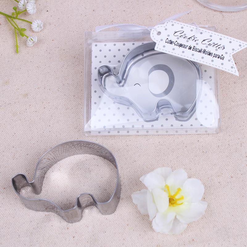 Little Elephant Cookie Cutter Baby Shower Favors Stainless Steel Biscuit Cutters Mold wedding Party Giveaway FFA3708