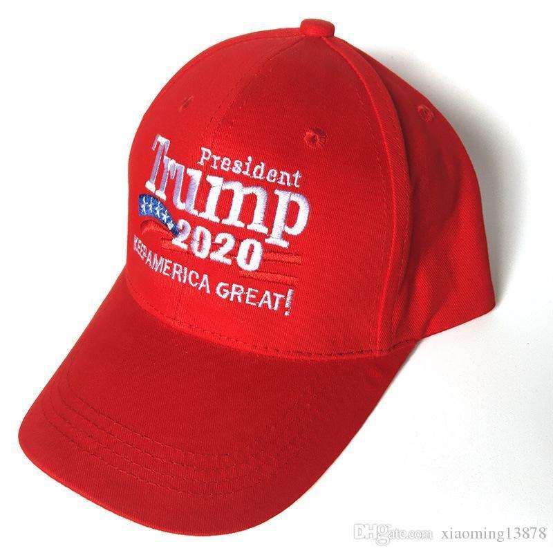 Hot Donald Trump 2020 Kampagne Baseball Cap Make America Great Again Hat Stickerei halten Amerika Großer Hut republikanischen Präsidenten Trump Kappen