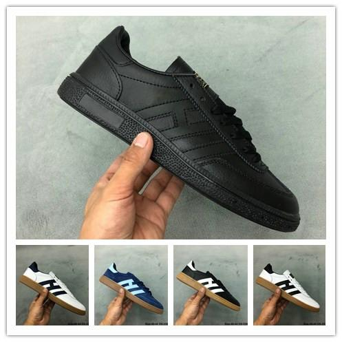 Top Quality Mens Suede Handball Spezial Spzl Shoes Gazelle Casual Shoes White Human Black ULTRA BOOS Original OG Classic Design Shoes 40 44 Prom Shoes