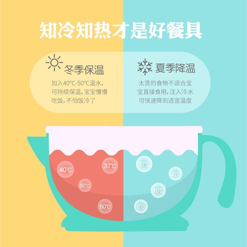 Güney Kore Goryeobaby ÇOCUK bulaşığı Bebek Su Enjeksiyonu İzoleli Bowl Kaşık Bebeklerin Sucking Bowl Kaşık Katı Gıda Kabı