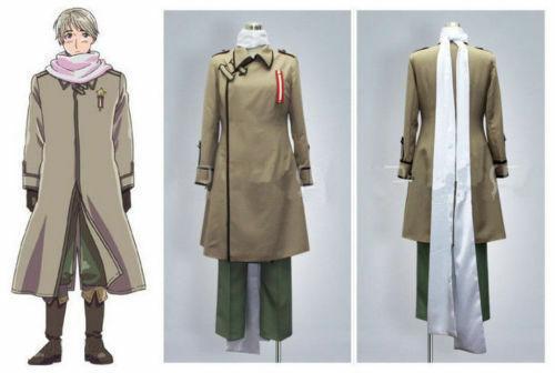 Anime Axis Powers Hetalia APH Russia Uniform Cosplay Costume Halloween