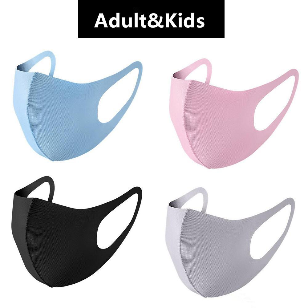Washable Face Masks Black Reusable Adult Kids Fashion Anti Dust Mouth Children Cotton Cloth Mask Breathable Masks Individual Packing FY9041