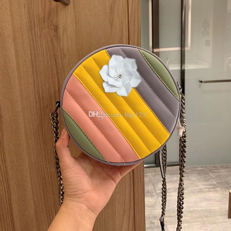 MARMONT مصغرة أكياس جولة الكتف فاخرة الأحدث حقيبة مصمم الجلود الأزياء أكياس امرأة حجم 18 * 18 * 5CM نموذج 550154