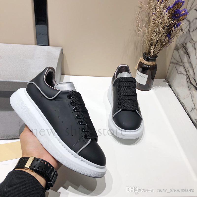 Kadın Erkek Tasarımcılar Aydınlık Yansıtıcı 3M Günlük Ayakkabılar Konfor Elbise Ayakkabı Platformu Sneaker Parti Eğitmenler Sneakers chaussures Walking