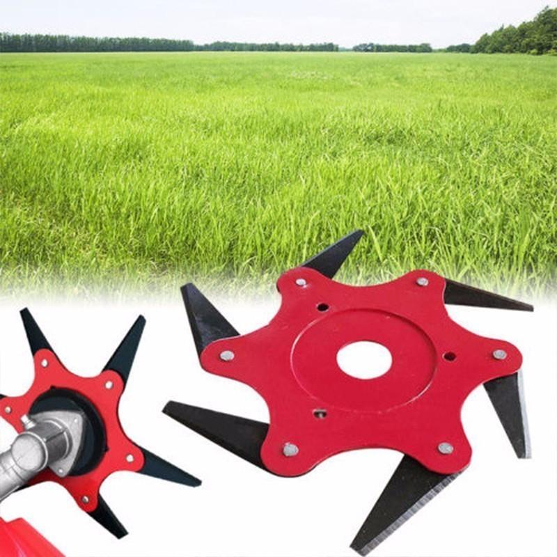 High Quality 6 Teeth Grass Trimmer Blade Metal Blades Brush Grass Cutter Trimmer Head Replaceable Garden Head Lawn Mower Blade