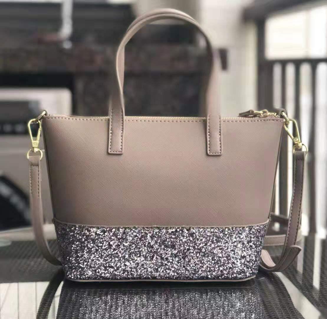 brand designer small glitter Purse Patchwork shining shoulder crossbody shopping bags pu women handbag totes with Shoulder strap