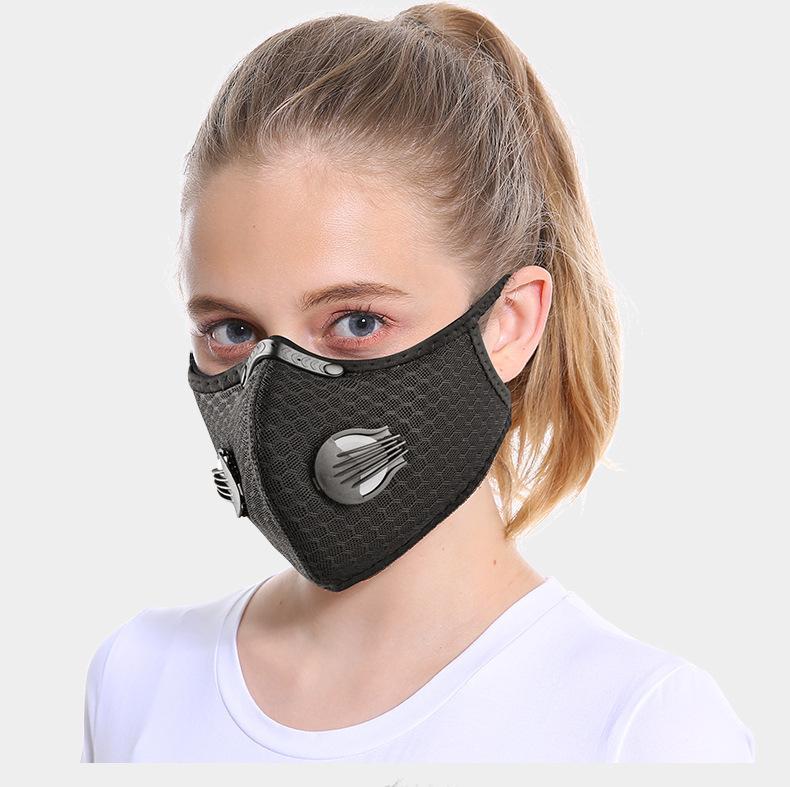 الجملة أقنعة الوجه الجديد أقنعة قناع الكربون المنشط للوجه مقاوم للأتربة تنفس واقية من الشمس في الهواء الطلق ركوب الدراجات قناع الوجه
