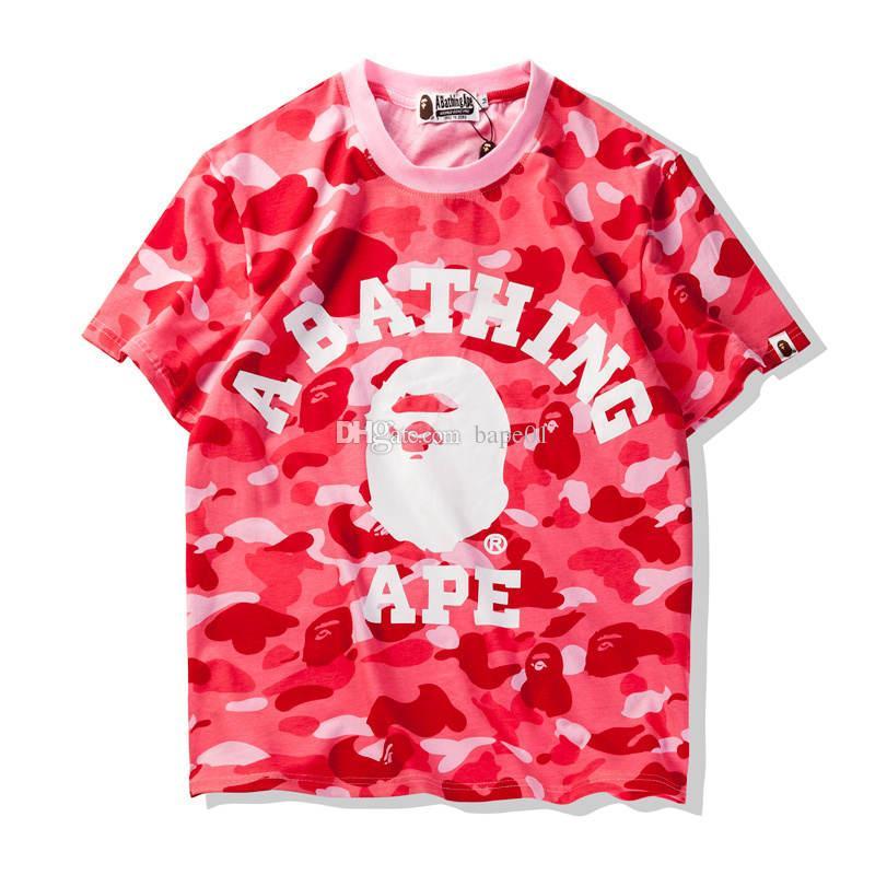 بابي رجل T قميص أزياء الرجال والنساء قصيرة الأكمام القرد الاستحمام رجال جودة عالية قطن T تيز قميص 4 ألوان الحجم M-XL