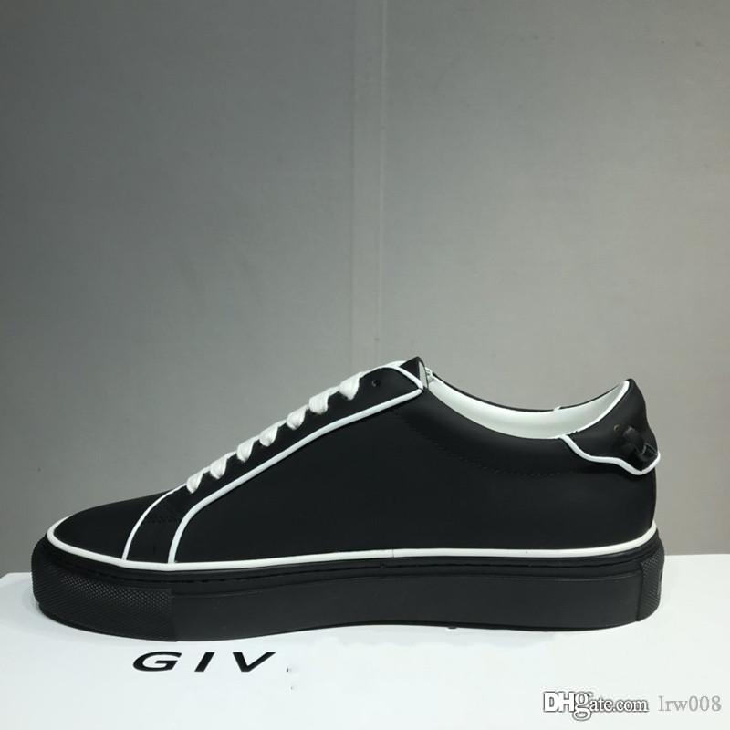 2020 Designer de Luxo Homens Mulheres Sneakers Casual tecido italiano enfeites moda em couro sapatos de alta qualidade size36-45 preto