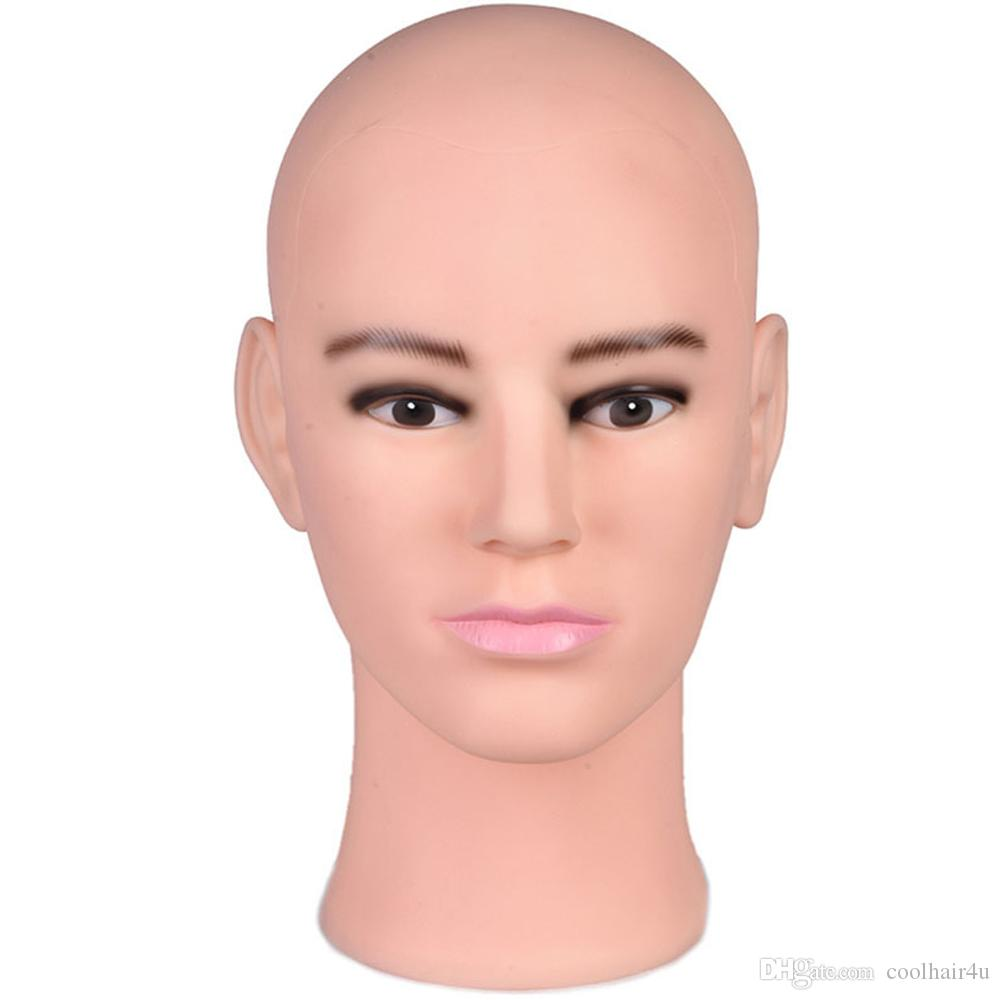 2019 Fiberglass Realistic Male Mannequin Dummy Head for Hat and Wig Display