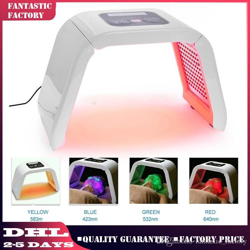 Vente chaude 4 lumière PDT LED Luminothérapie PDT rajeunissement de la peau pour l'acné traitement thérapie LED thérapie Salon Équipement de beauté