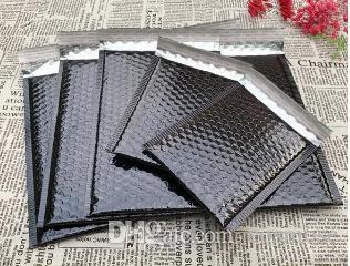 Grandes Preto bolha Mailers envelopes acolchoados embalagem de transporte Sacos aluminizer bolha Mailing Envelope Expresso Bag Gift Wrap Atacado