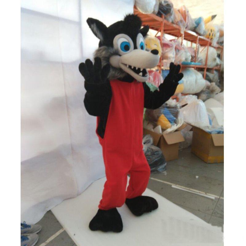 Оптовая продажа-высокое качество горячая Cosply diy новое поступление популярное животное Серый Волк плюшевый костюм талисмана на Рождество