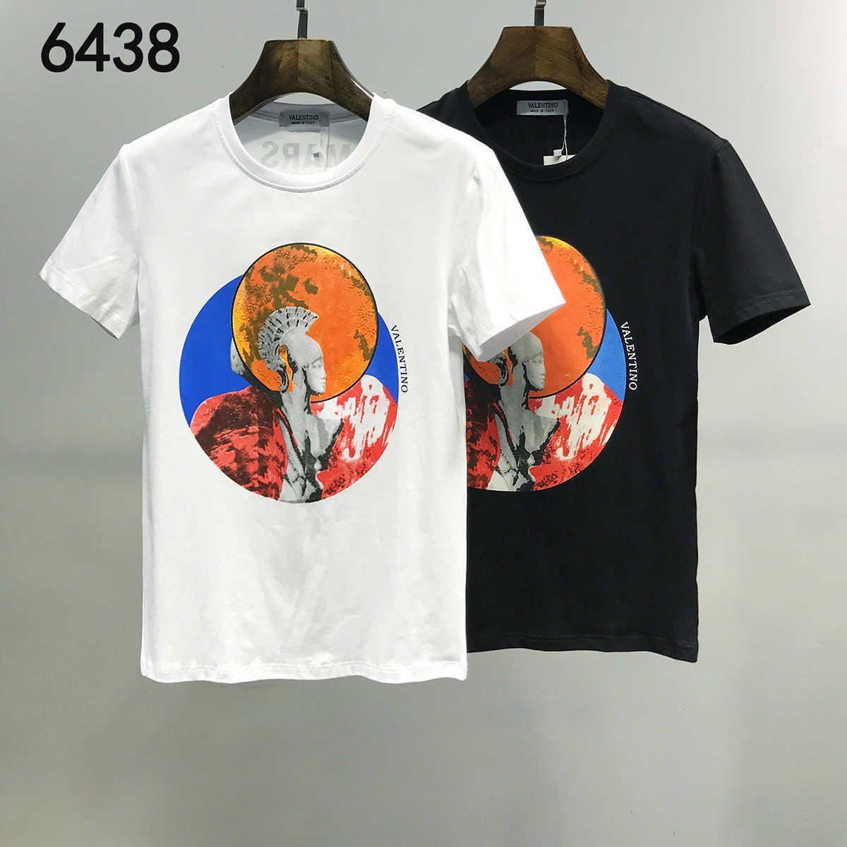 Popular New Moda e Design original de homens e mulheres T Shirt Pure Cotton manga curta em torno do pescoço Camiseta